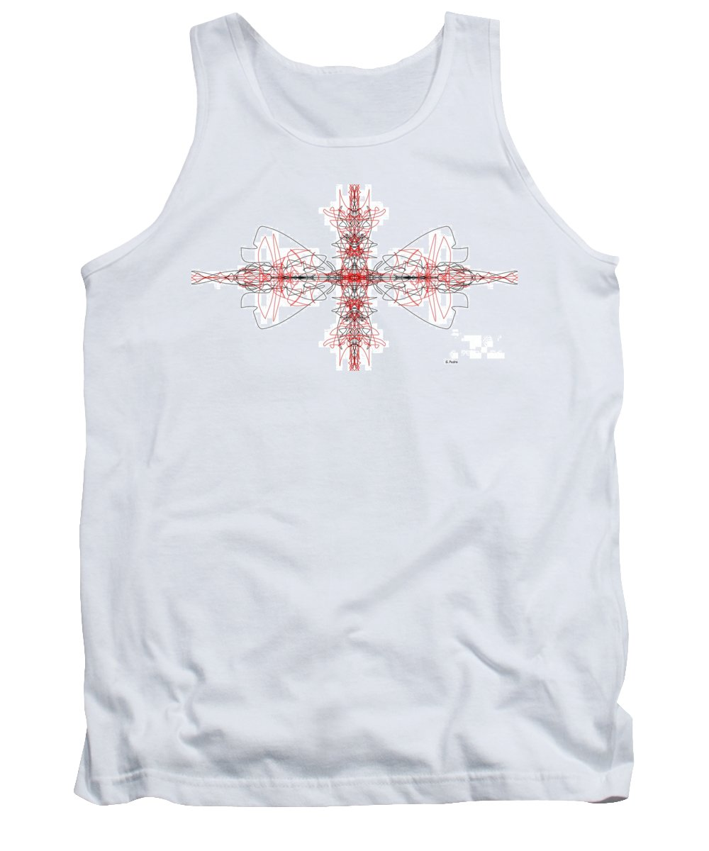 Fractal Tank Top featuring the digital art Stingrays by George Pedro