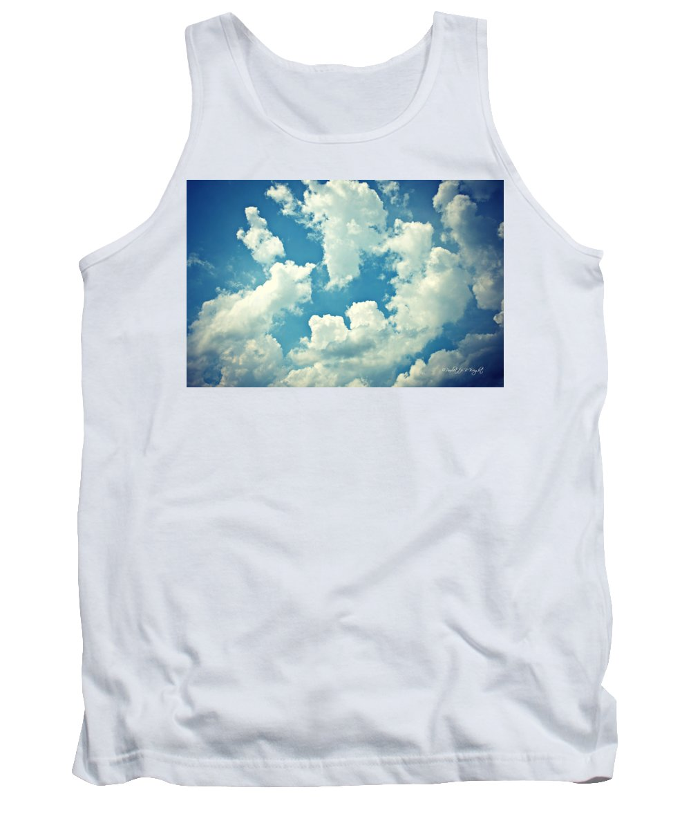 Nature Tank Top featuring the photograph Storm Clouds - 2 by Paulette B Wright