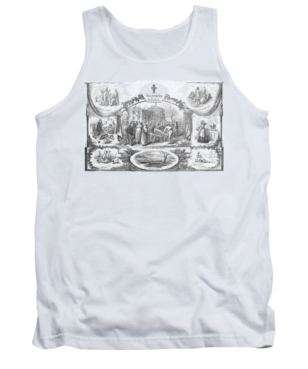 1868 Tank Top featuring the photograph Story Of A Pauper, 1868 by Granger