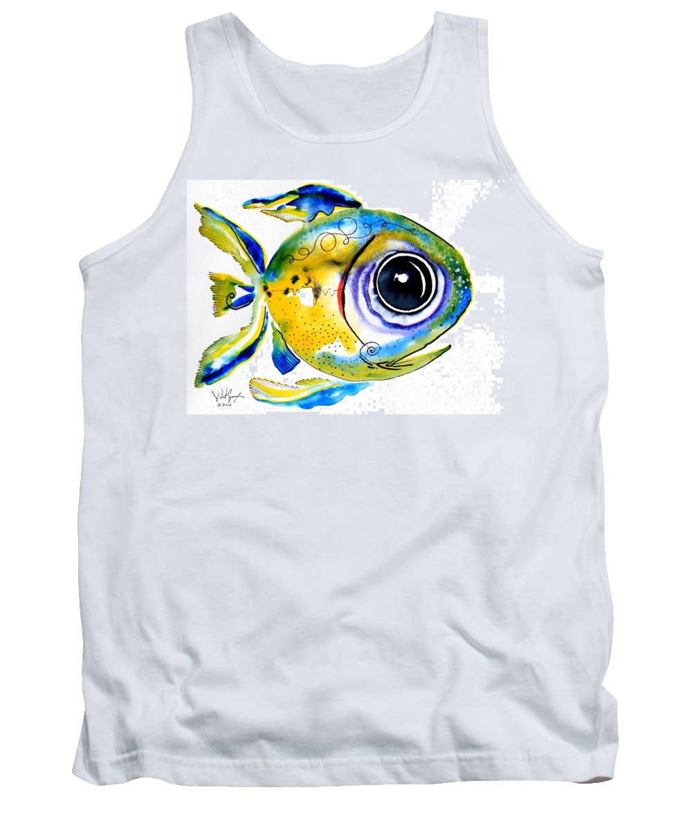 Fish Tank Top featuring the painting Stout Lookout Fish by J Vincent Scarpace