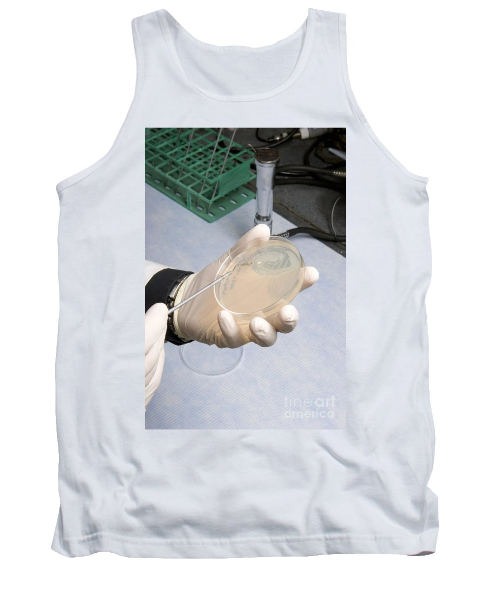 Researcher Tank Top featuring the photograph Streaking A Dish by Ted Kinsman