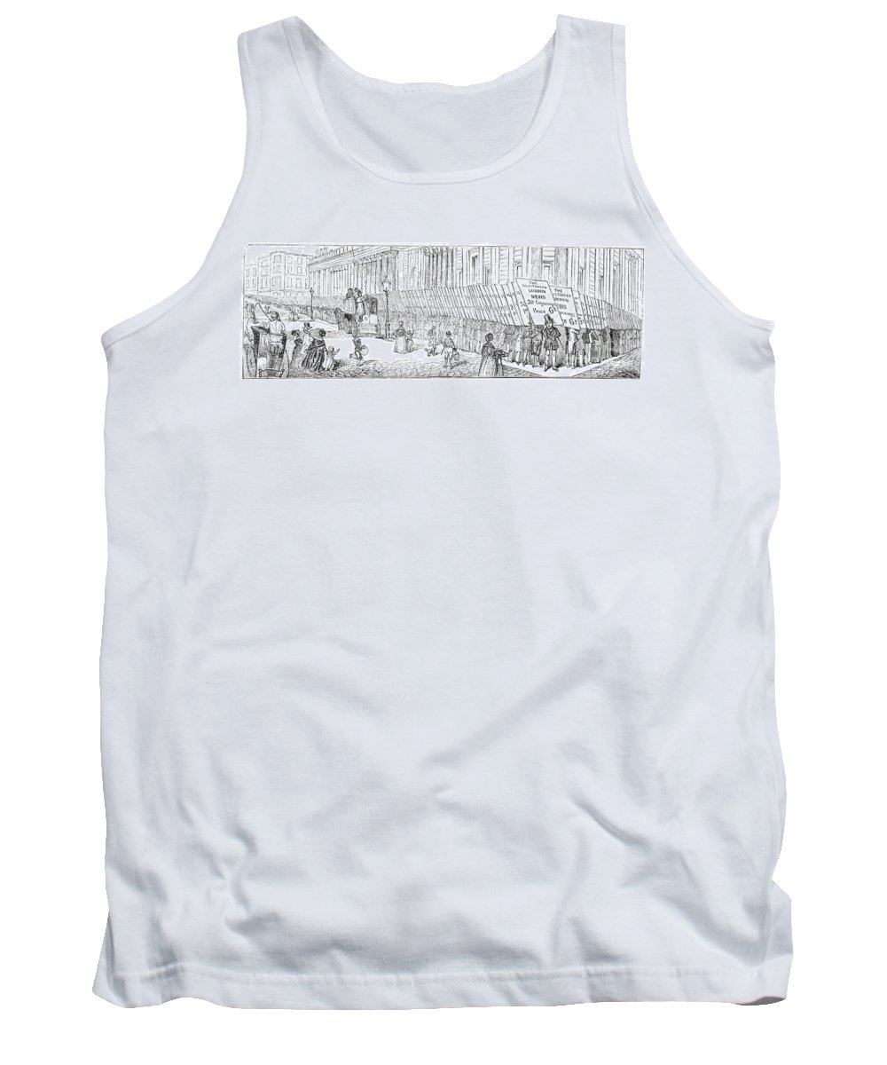1842 Tank Top featuring the photograph Street Advertising, 1842 by Granger
