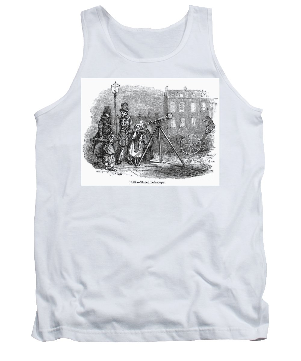 1850s Tank Top featuring the photograph Street Telescope by Granger