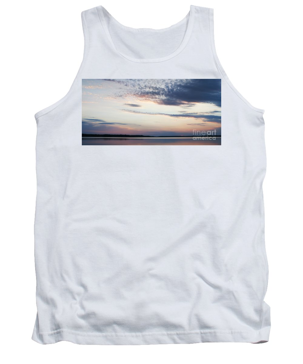 Prairie Sunset Tank Top featuring the photograph Sunset On Lovewell by Art Whitton