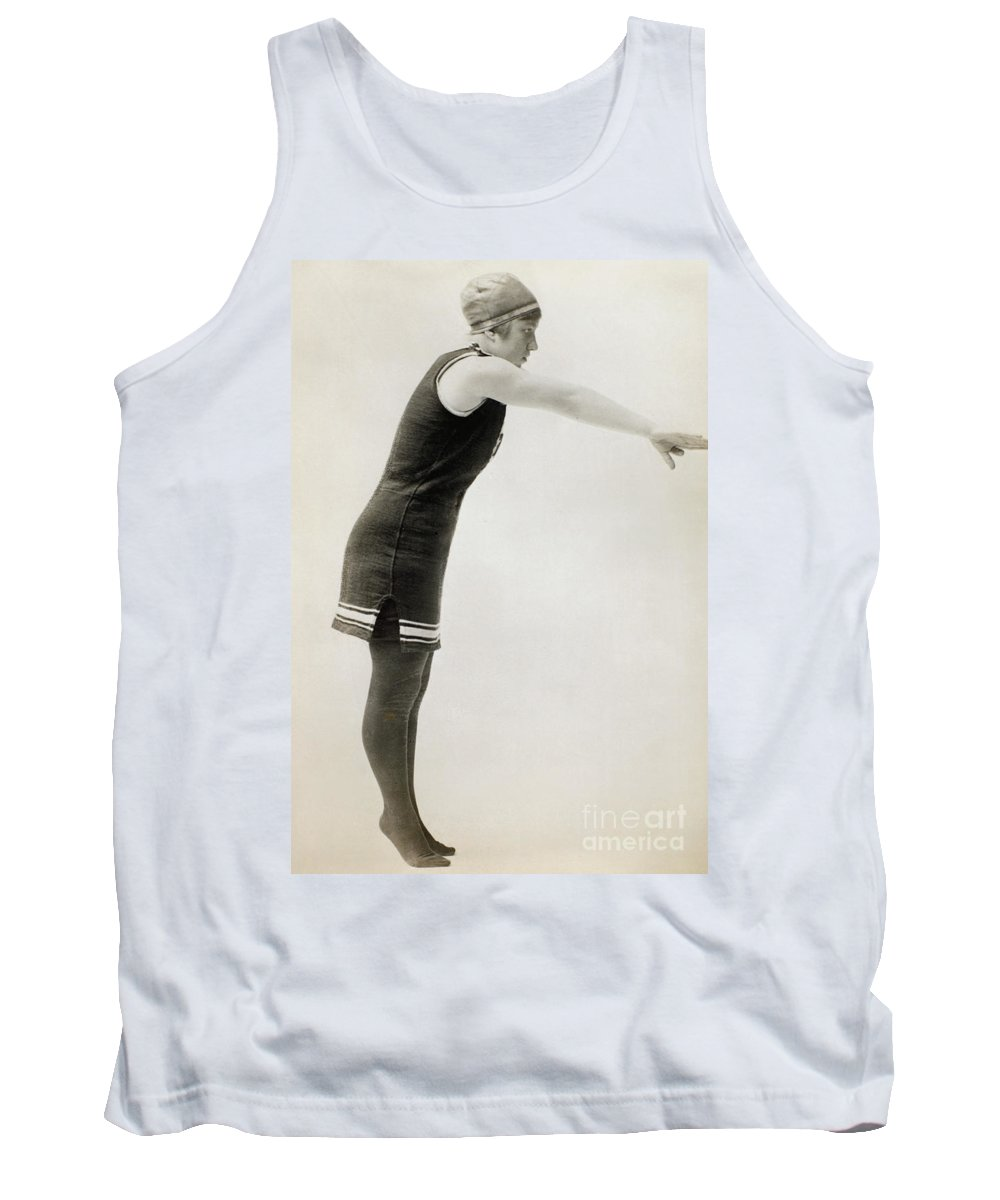 1900 Tank Top featuring the photograph Swimmer, C1900 by Granger