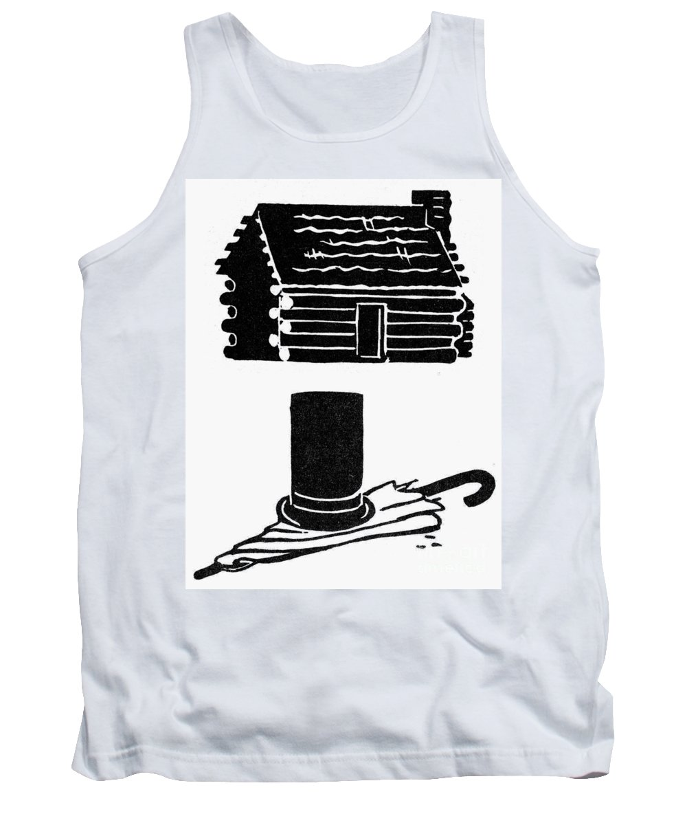 Abraham Tank Top featuring the photograph Symbols: Abe Lincoln by Granger