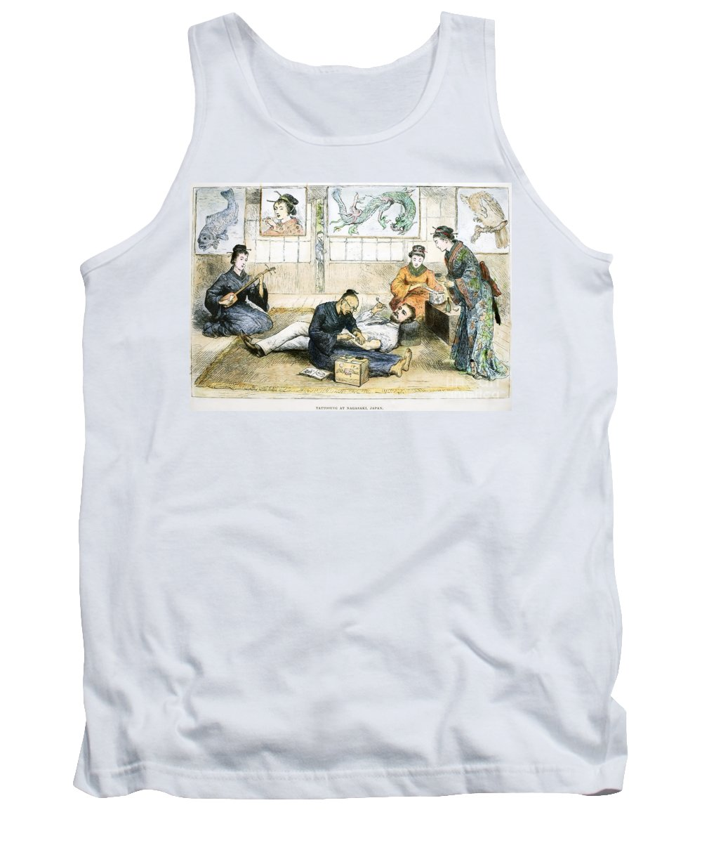 1882 Tank Top featuring the photograph Tattoo Parlor, 1882 by Granger