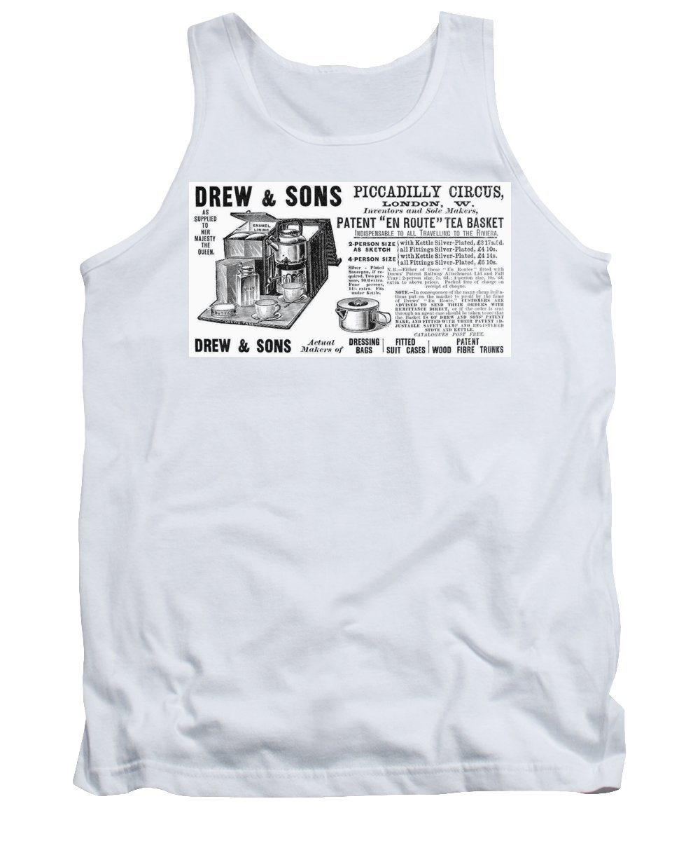 1898 Tank Top featuring the photograph Tea Service, 1898 by Granger