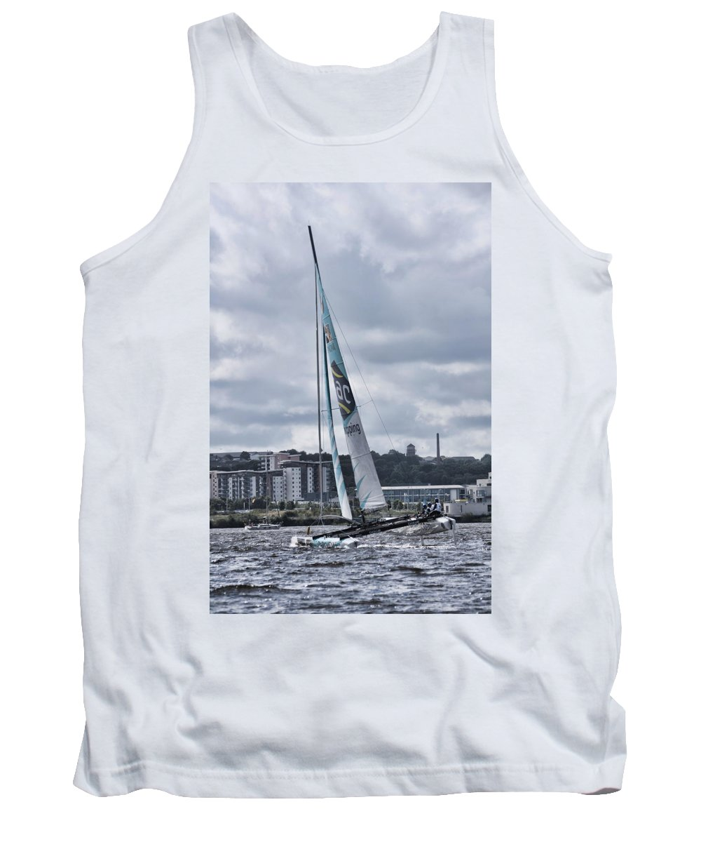 Extreme 40 Catamarans Tank Top featuring the photograph Team Gac Pindar by Steve Purnell