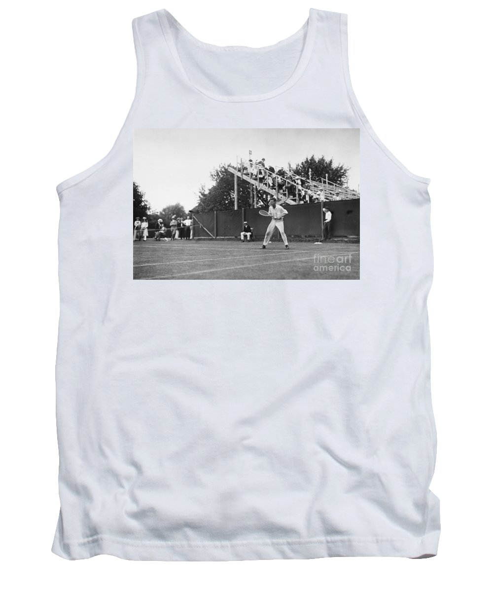 1920 Tank Top featuring the photograph Tennis Player, C1920 by Granger