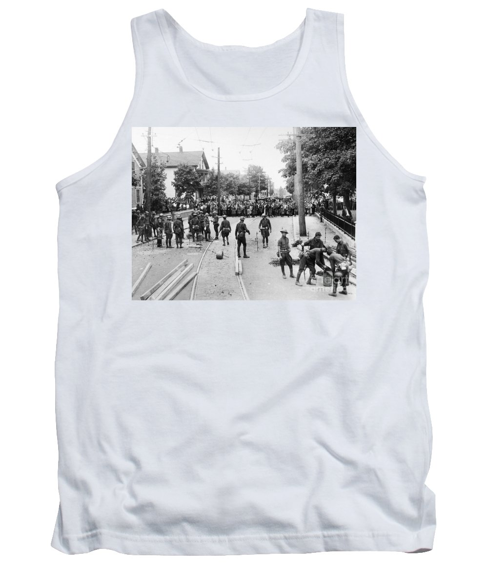 1930s Tank Top featuring the photograph Textile Strike, 1934 by Granger