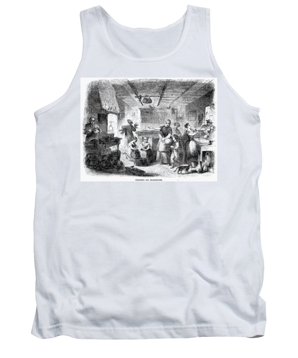 1855 Tank Top featuring the photograph Thanksgiving, 1855 by Granger
