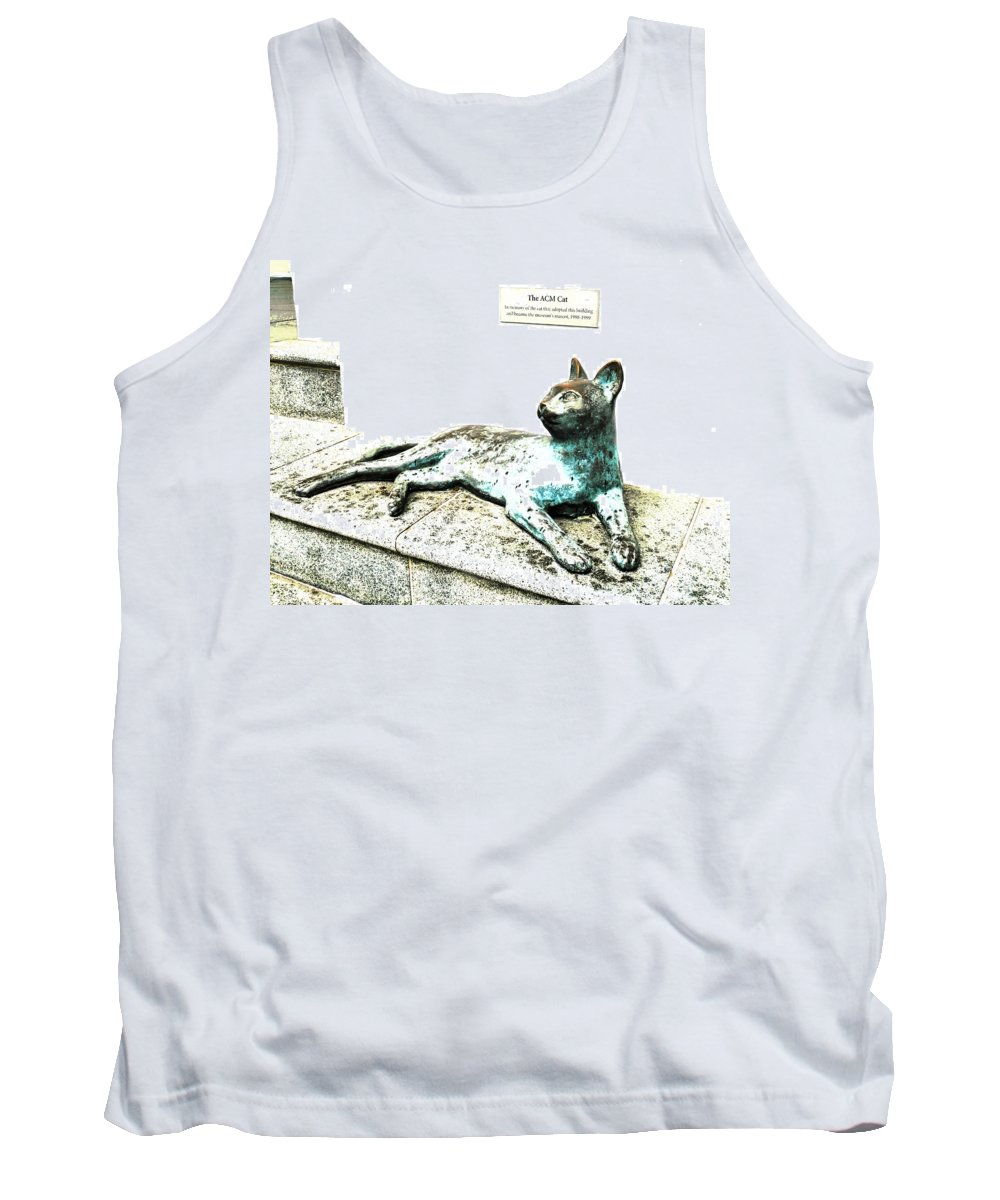 Peranakan Tank Top featuring the photograph The Asian Civilisations Museum Cat by Steve Taylor