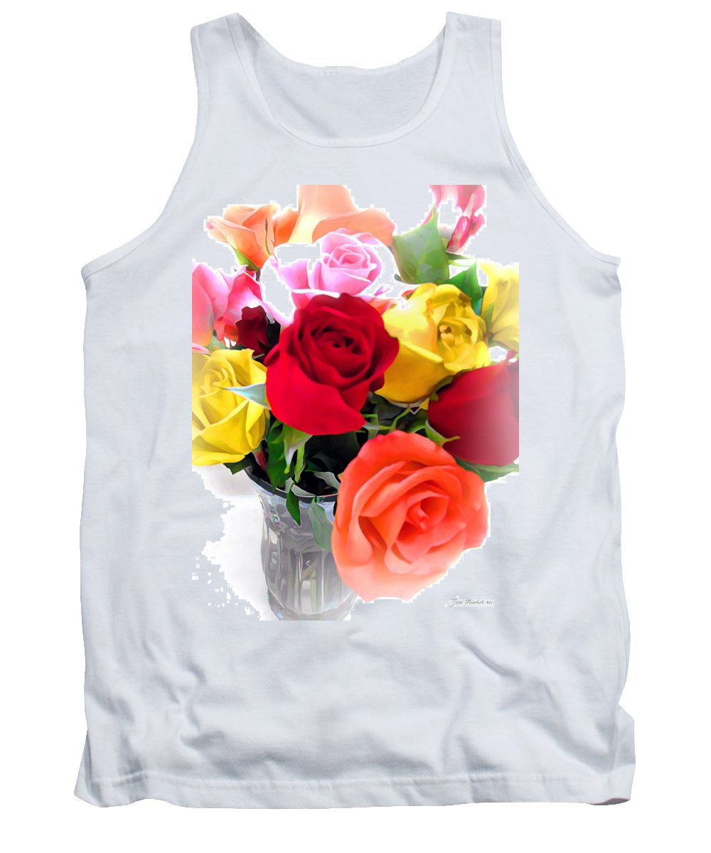 Rose Tank Top featuring the photograph The Color Of A Rose by Joan Minchak