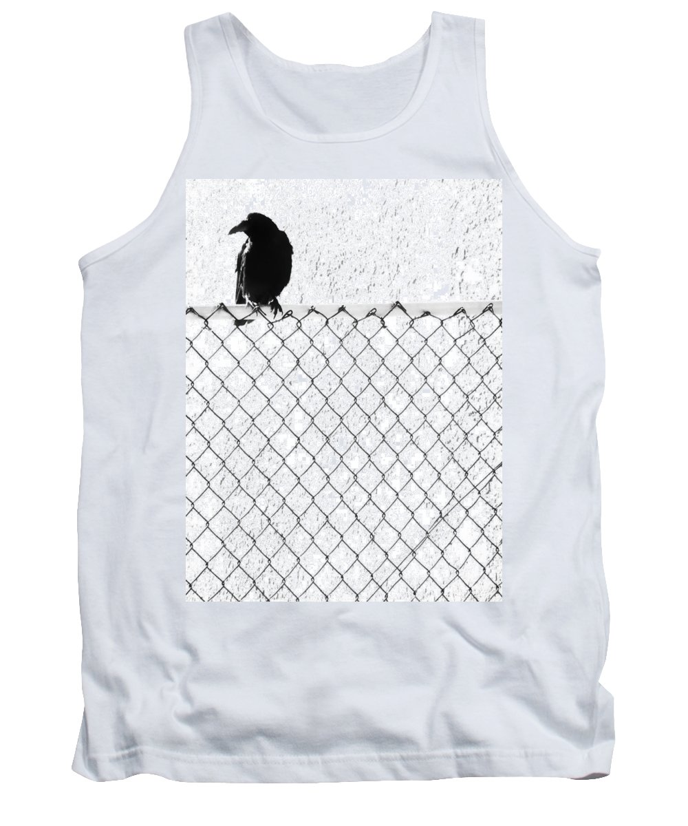 Crow Tank Top featuring the photograph The Fence That Follows by The Artist Project