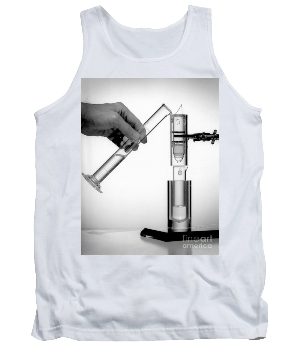Science Tank Top featuring the photograph The First Technetium-99m Generator by Science Source