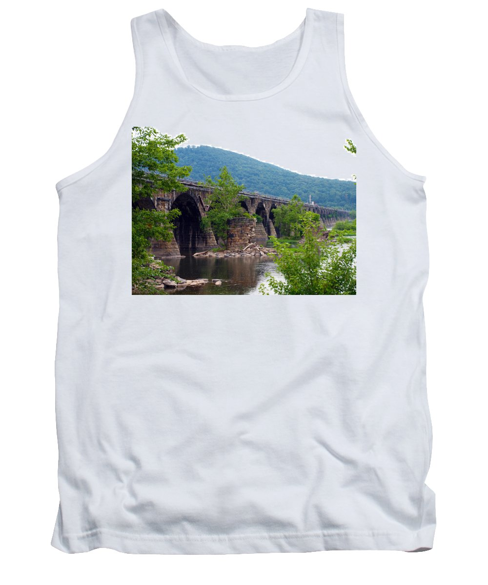 Bridges Tank Top featuring the photograph The Great Old Bridge by Robert Margetts