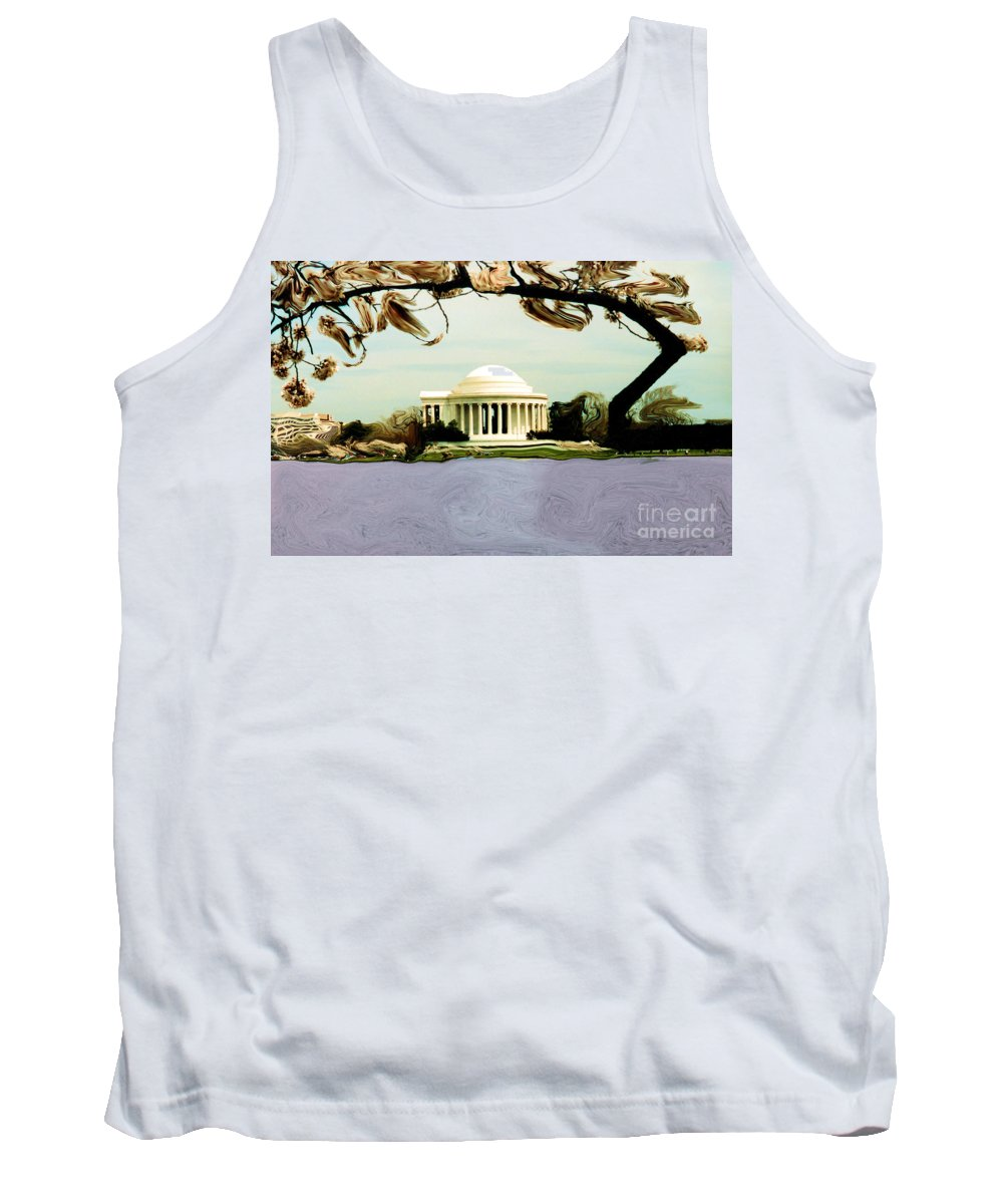 Jefferson Memorial Tank Top featuring the photograph The Jefferson Memorial by Mike Nellums