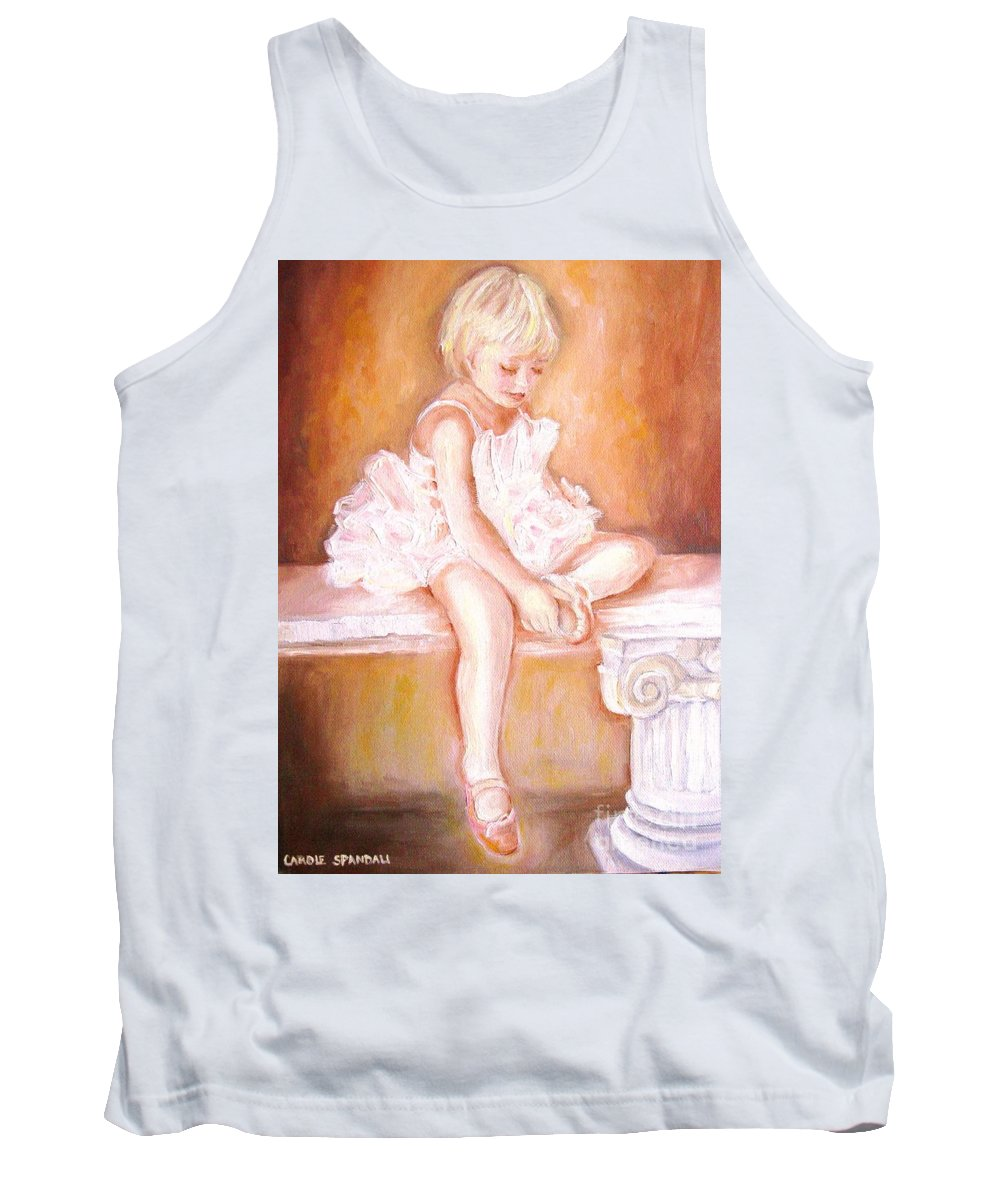 Ballerinas Tank Top featuring the painting The Little Ballerina by Carole Spandau