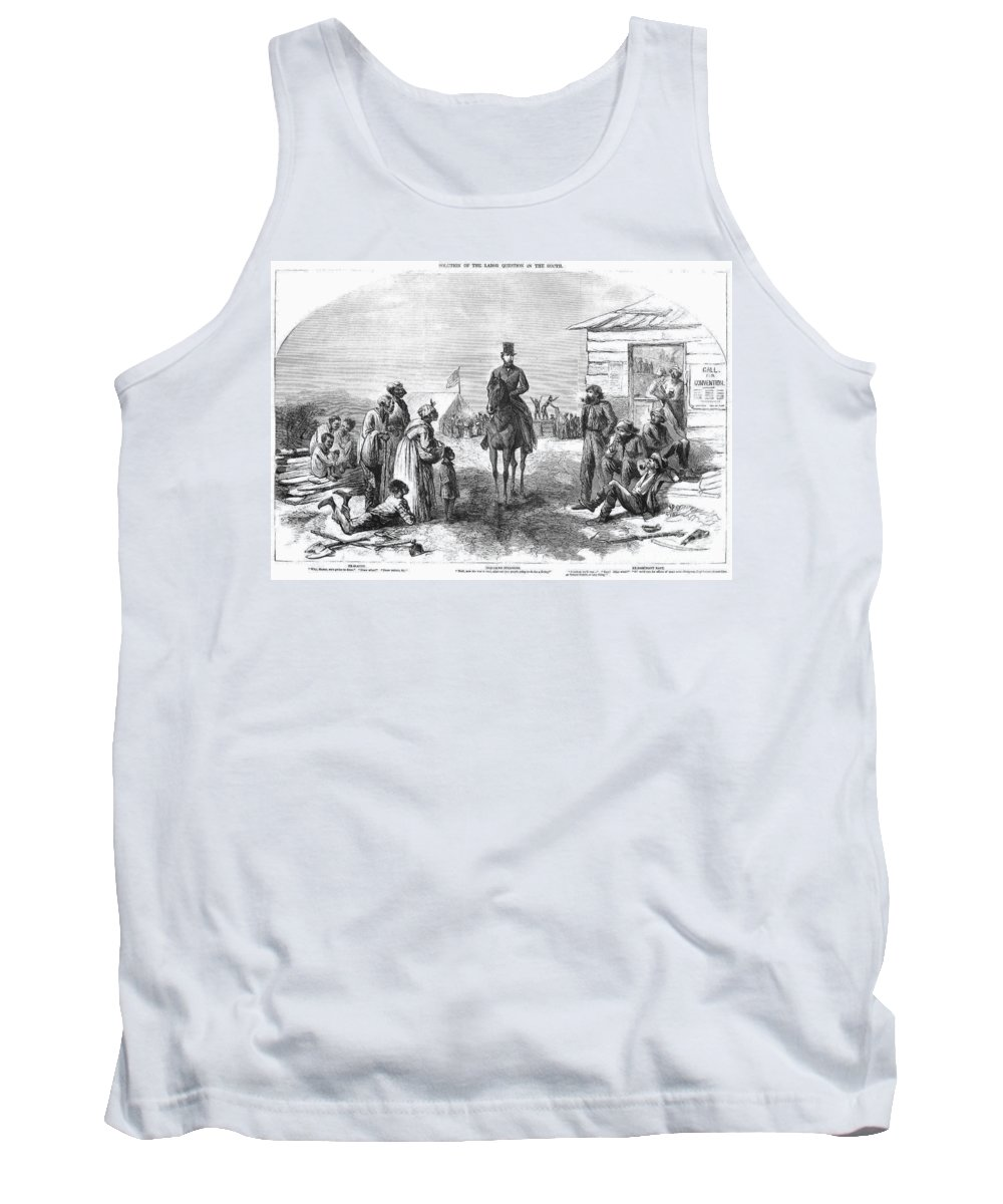 1865 Tank Top featuring the photograph The South After Civil War by Granger