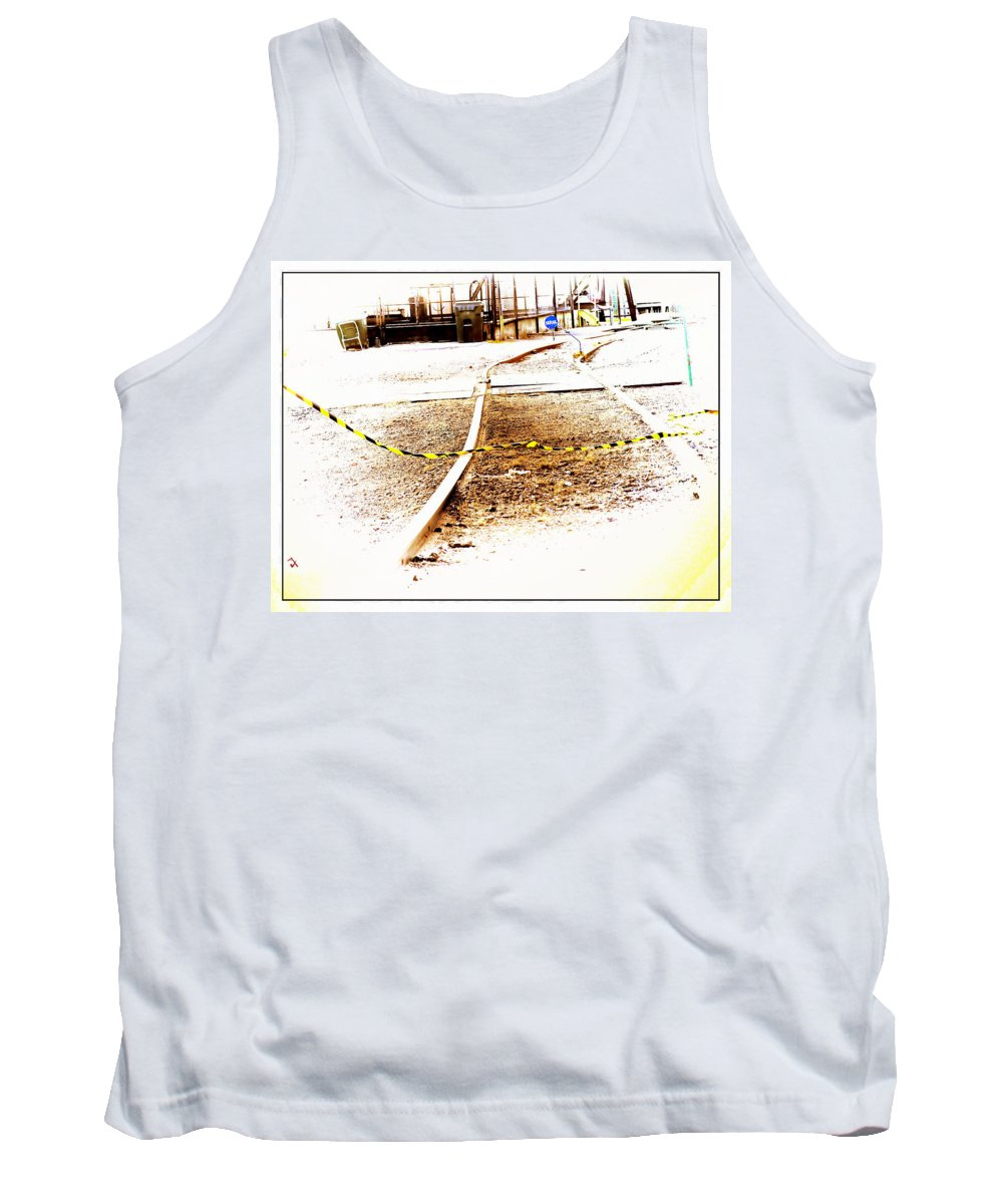 Railroad Tank Top featuring the photograph The Tracks by Adam Vance