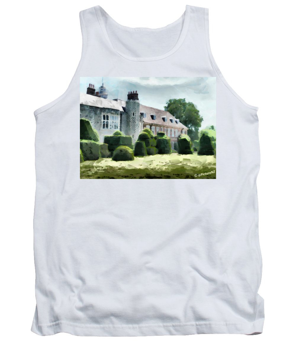 Hall Place Tank Top featuring the digital art The West Wing Of Historic Hall Place by Steve Taylor