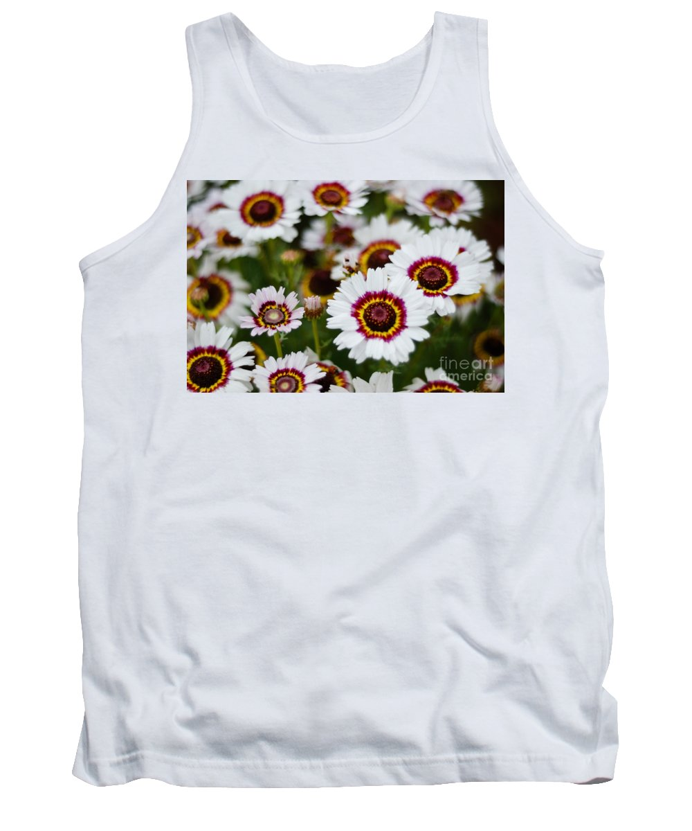 Flower Tank Top featuring the photograph The White Field by Syed Aqueel