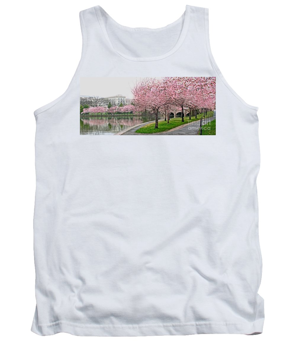 Tidal Basin Tank Top featuring the photograph Tidal Basin Near Jefferson Memorial by Jack Schultz