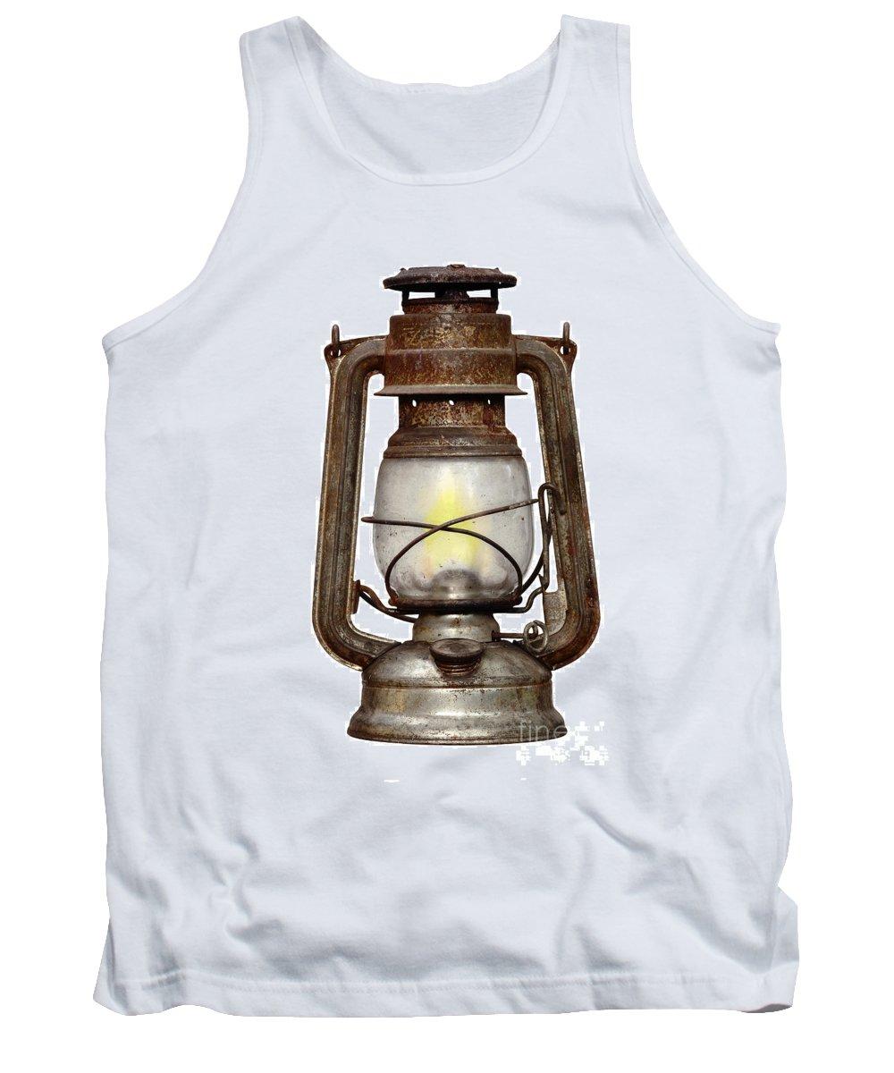Light Tank Top featuring the photograph Time Worn Kerosene Lamp by Michal Boubin