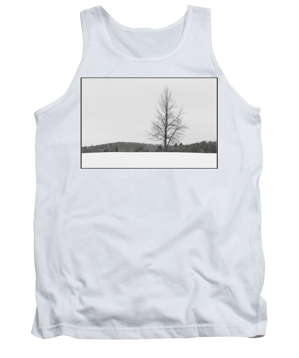 Landscape Tank Top featuring the photograph Tree And Snow by Jiayin Ma