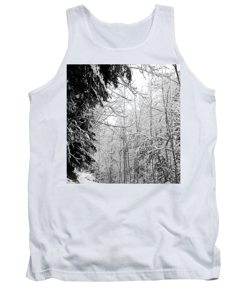 Landscapes Tank Top featuring the photograph Trees Under The Snow by Olivier De Rycke
