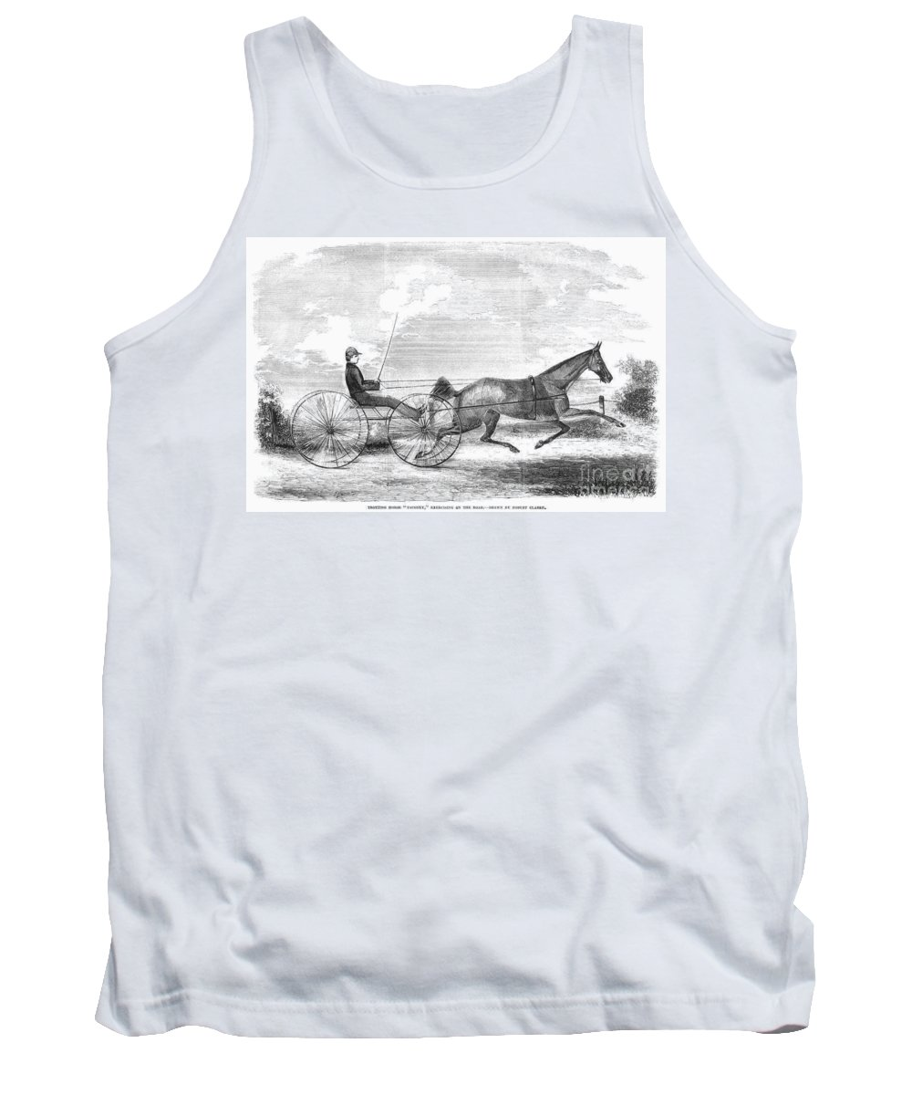 1853 Tank Top featuring the photograph Trotting Horse, 1853 by Granger