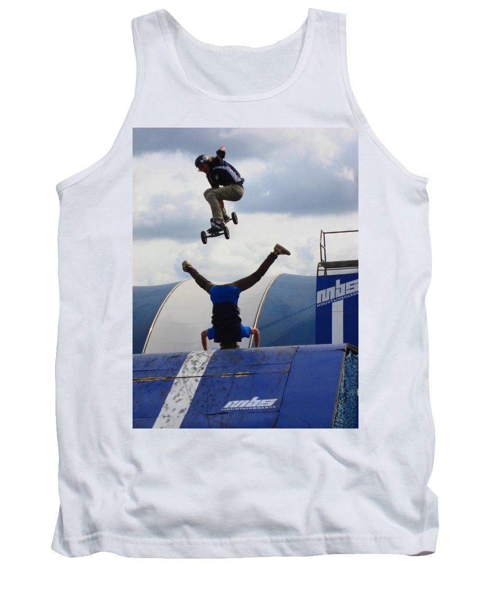Mountain Boarding Tank Top featuring the photograph Trusted Friends by Kym Backland