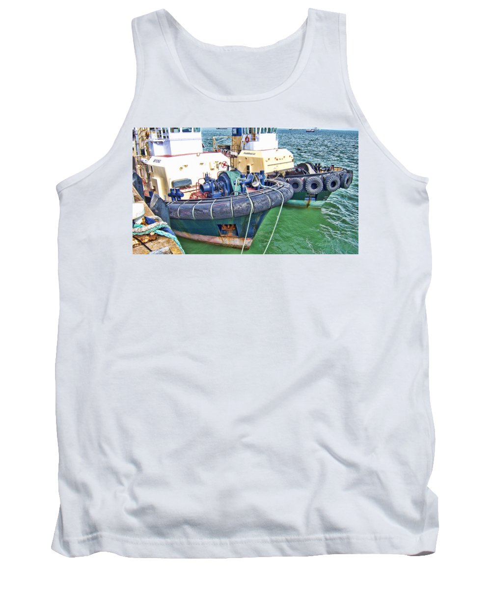 Tugboats Tank Top featuring the photograph Tugs by Douglas Barnard