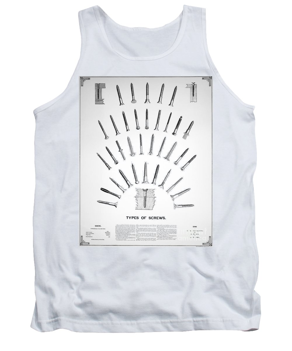 19th Century Tank Top featuring the photograph Types Of Screws, C1885 by Granger