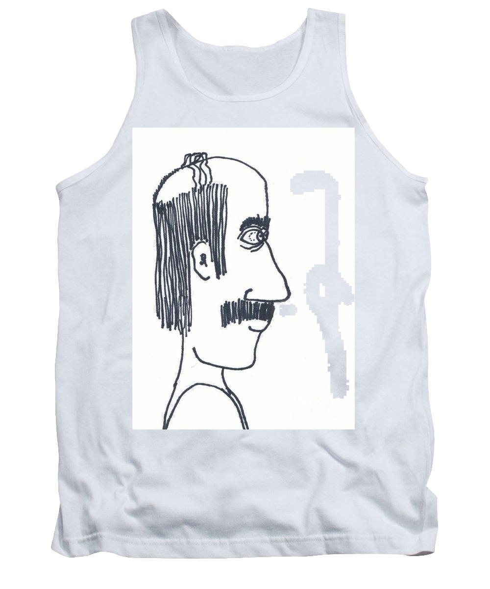 Uncle Lefty Tank Top featuring the drawing Uncle Lefty by Michael Mooney