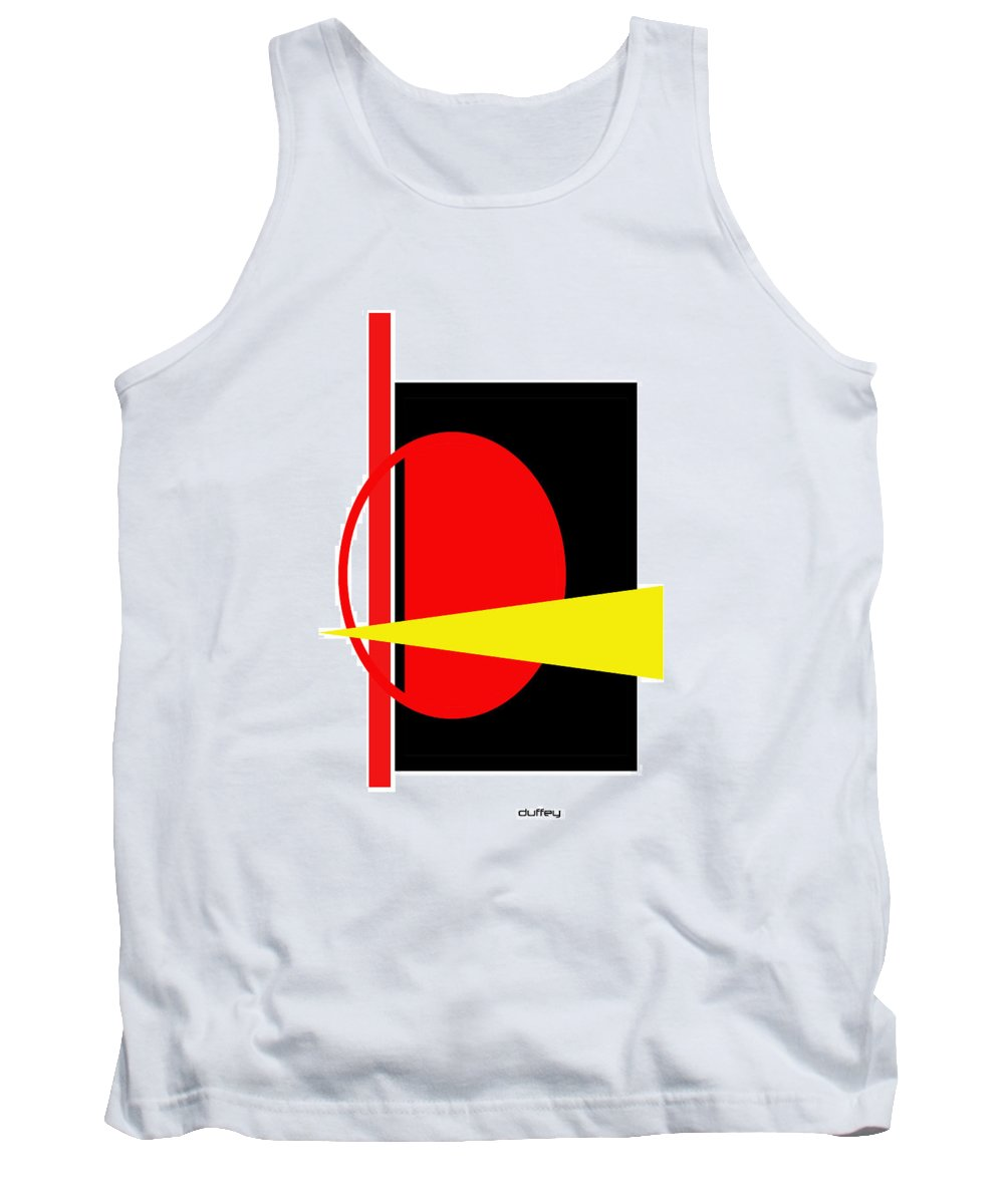 Post Constructivism/geometric Digital Drawings Tank Top featuring the photograph Untitled Ch 3 by Doug Duffey