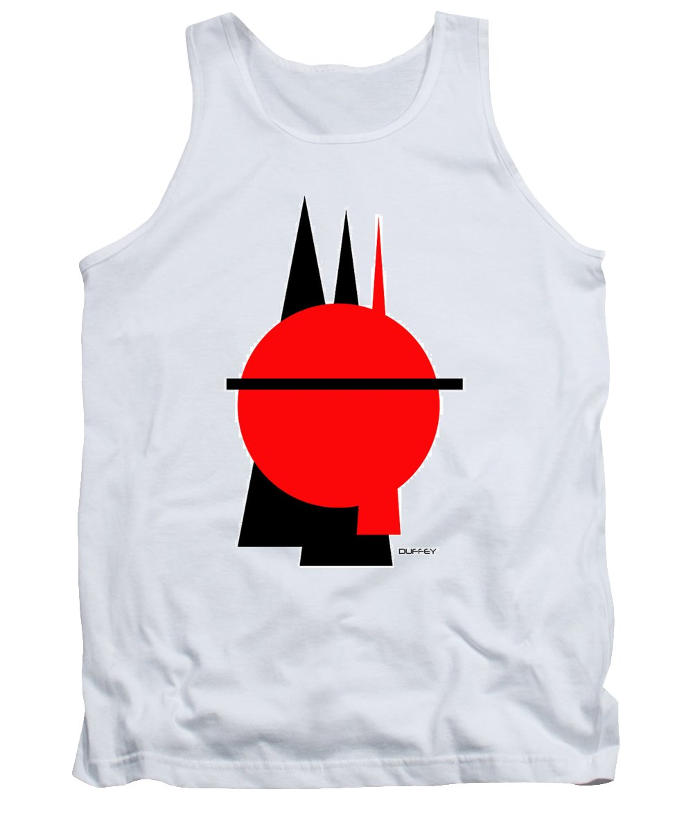 Post Constructivism/geometric Digital Drawings Tank Top featuring the photograph Untitled Ch 8 by Doug Duffey