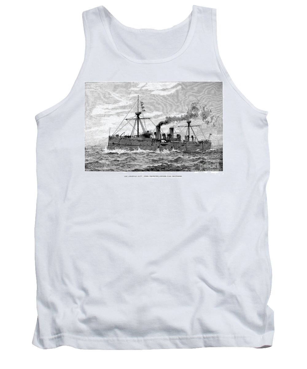 1890 Tank Top featuring the photograph Uss Baltimore, 1890 by Granger