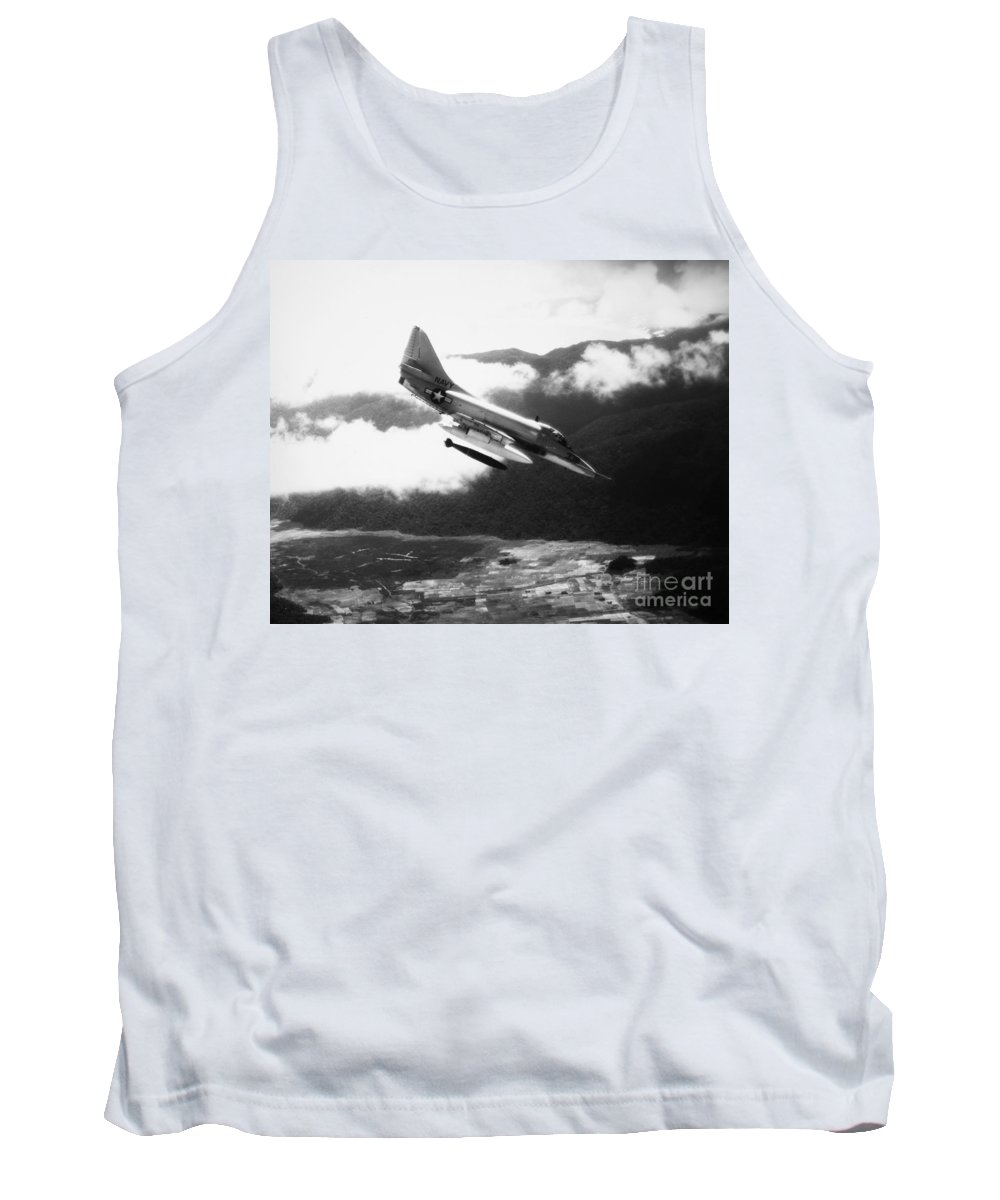1965 Tank Top featuring the photograph Vietnam War: A4 Skyhawk by Granger