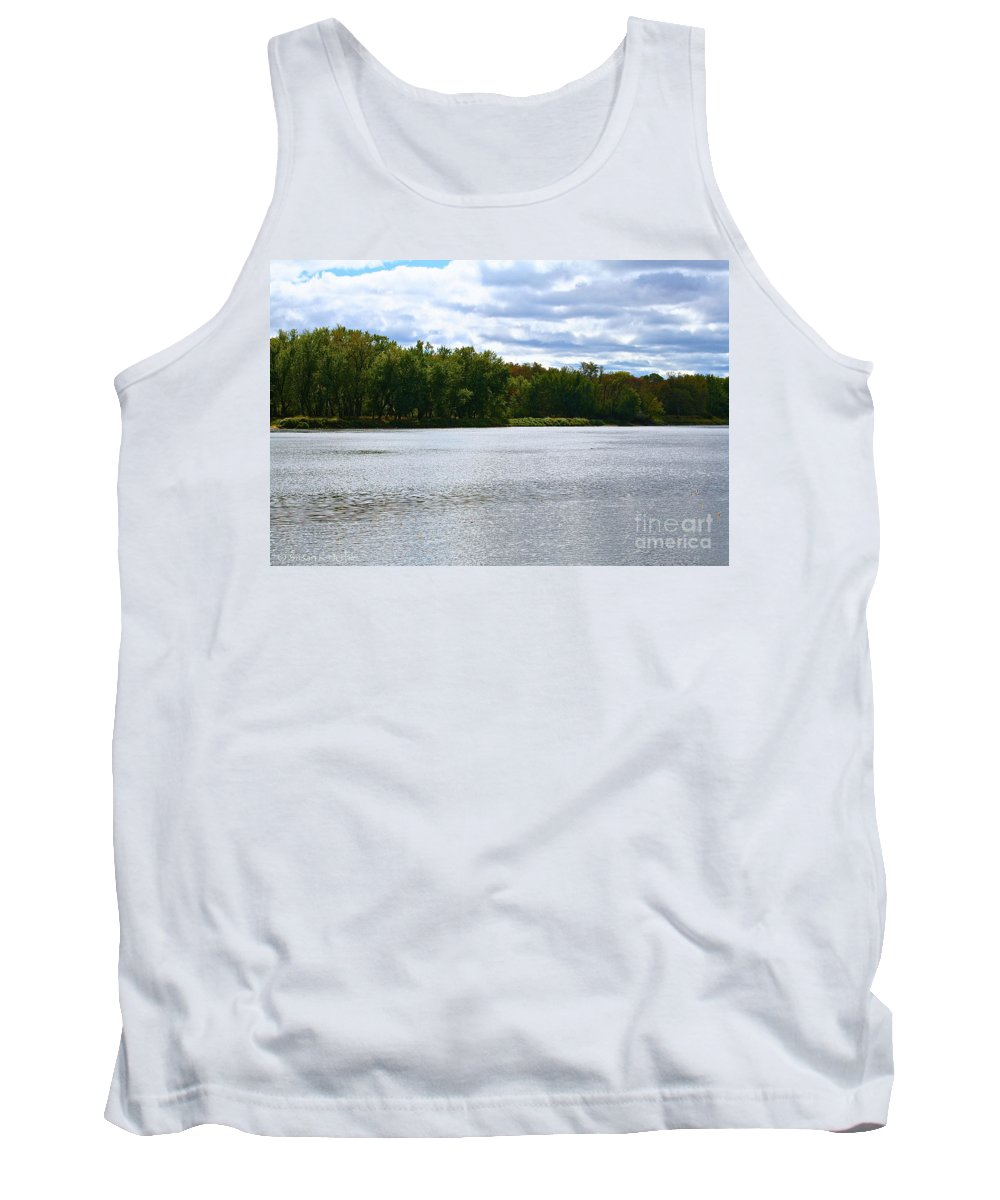 Landscape Tank Top featuring the photograph View Across The River by Susan Herber