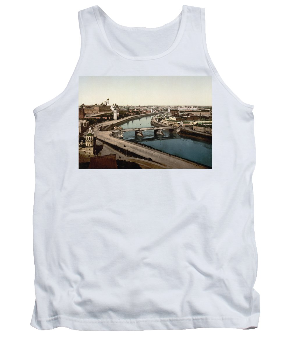Moscow Tank Top featuring the photograph view from St Saviours - Moscow - Russia by International Images
