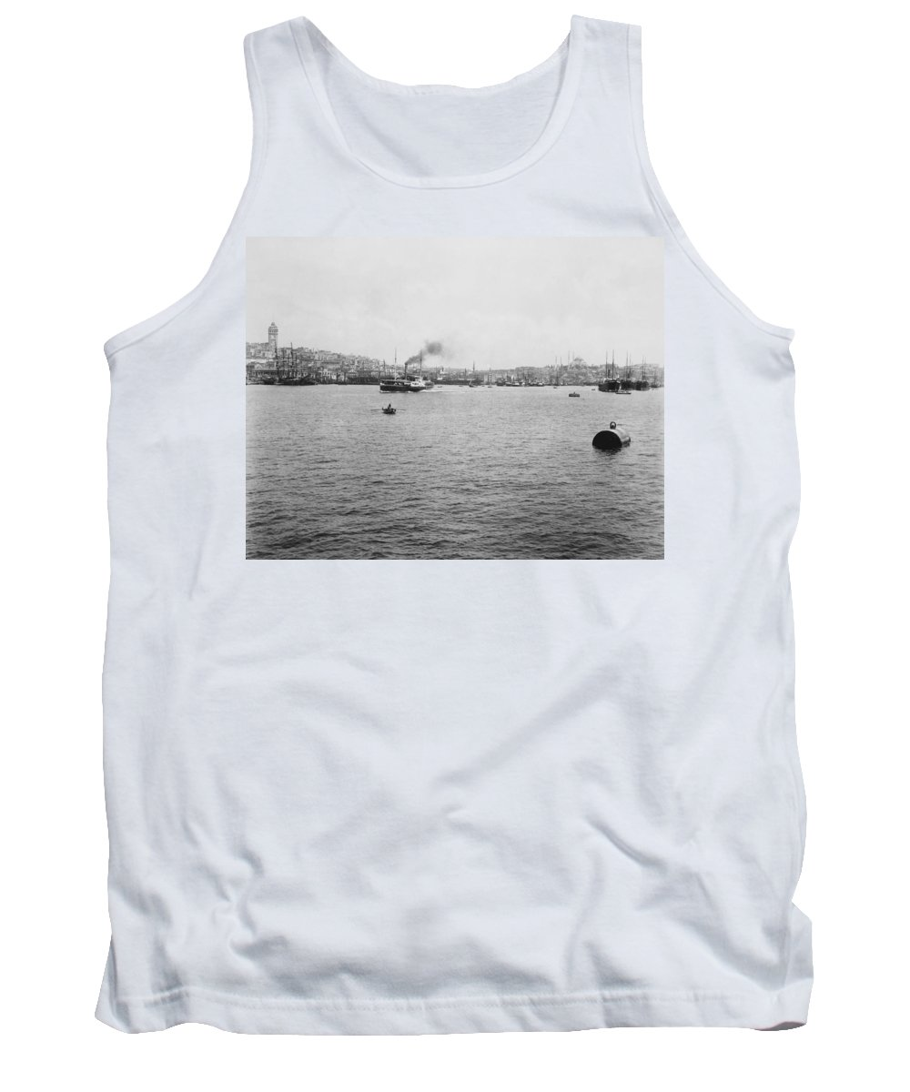 Galata Tank Top featuring the photograph View Of Galata And Istanbul - Between 1880-1893 by International Images
