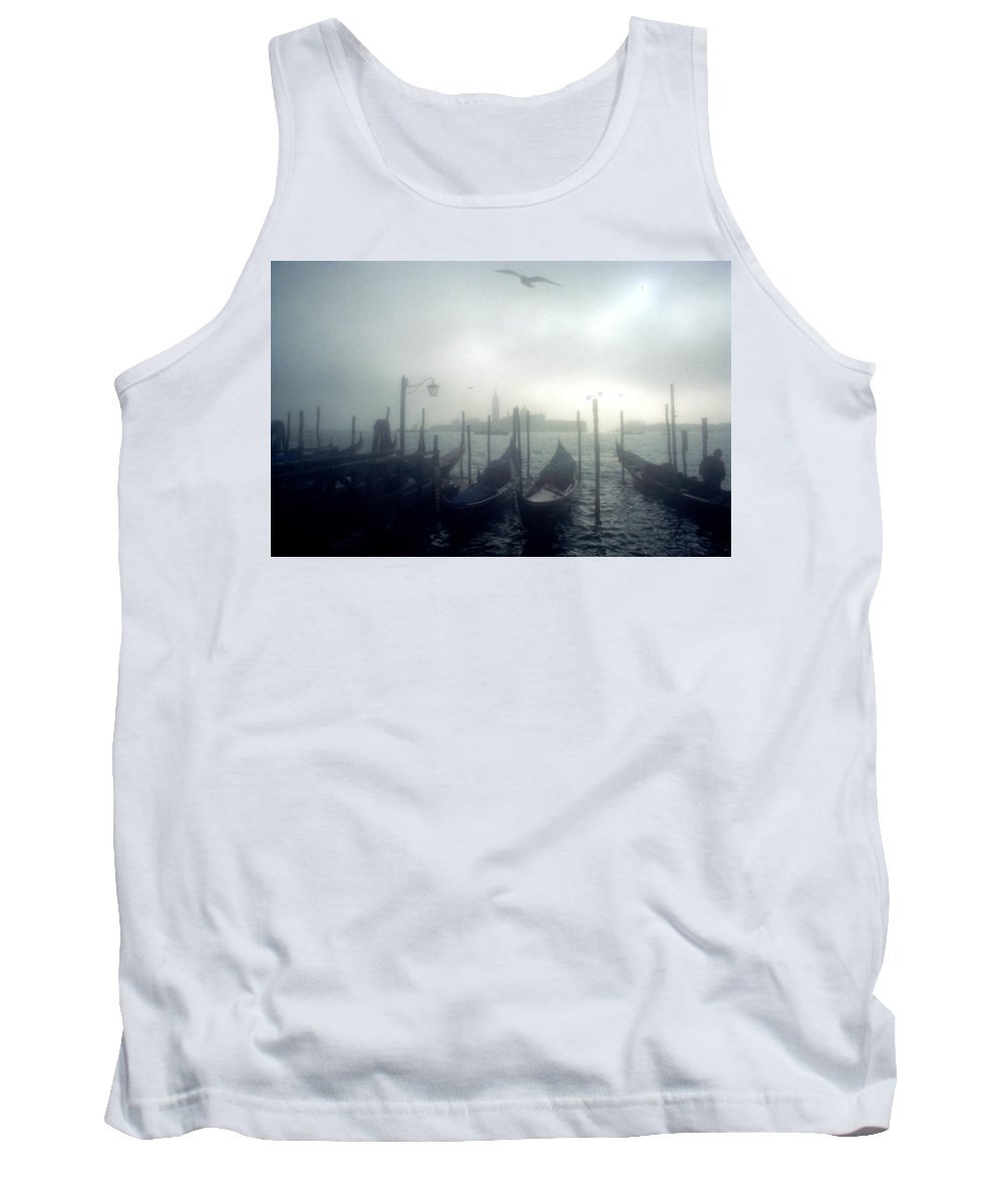Halloween Tank Top featuring the photograph View Of San Giorgio Maggiore From The Piazzetta San Marco In Venice by Simon Marsden
