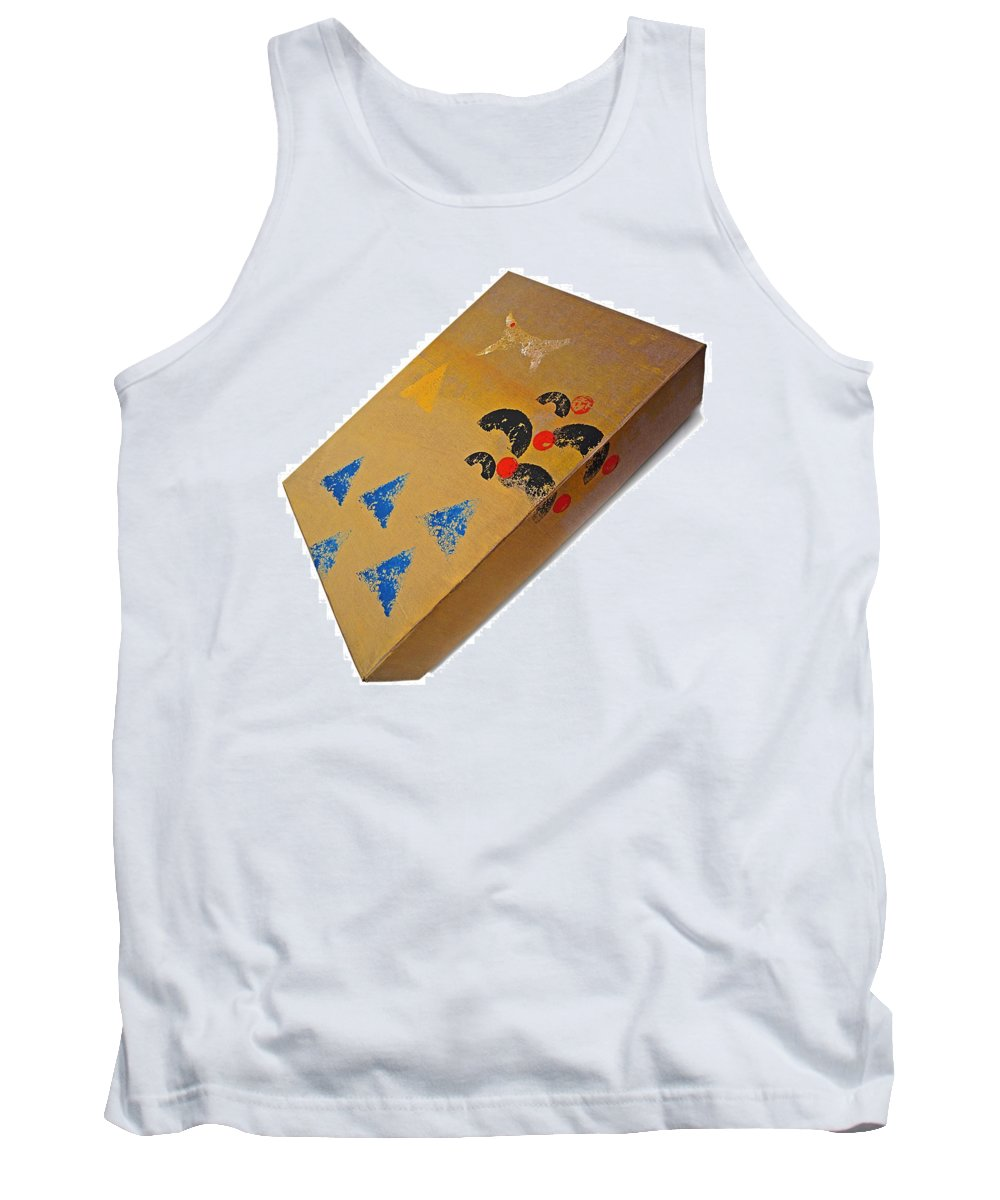Native Tank Top featuring the painting Village Box by Charles Stuart