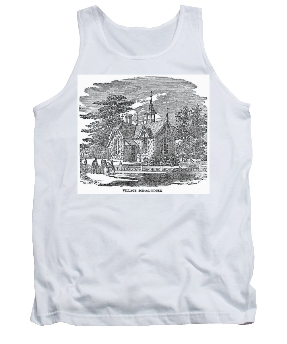 19th Century Tank Top featuring the photograph Village Schoolhouse, C1840 by Granger