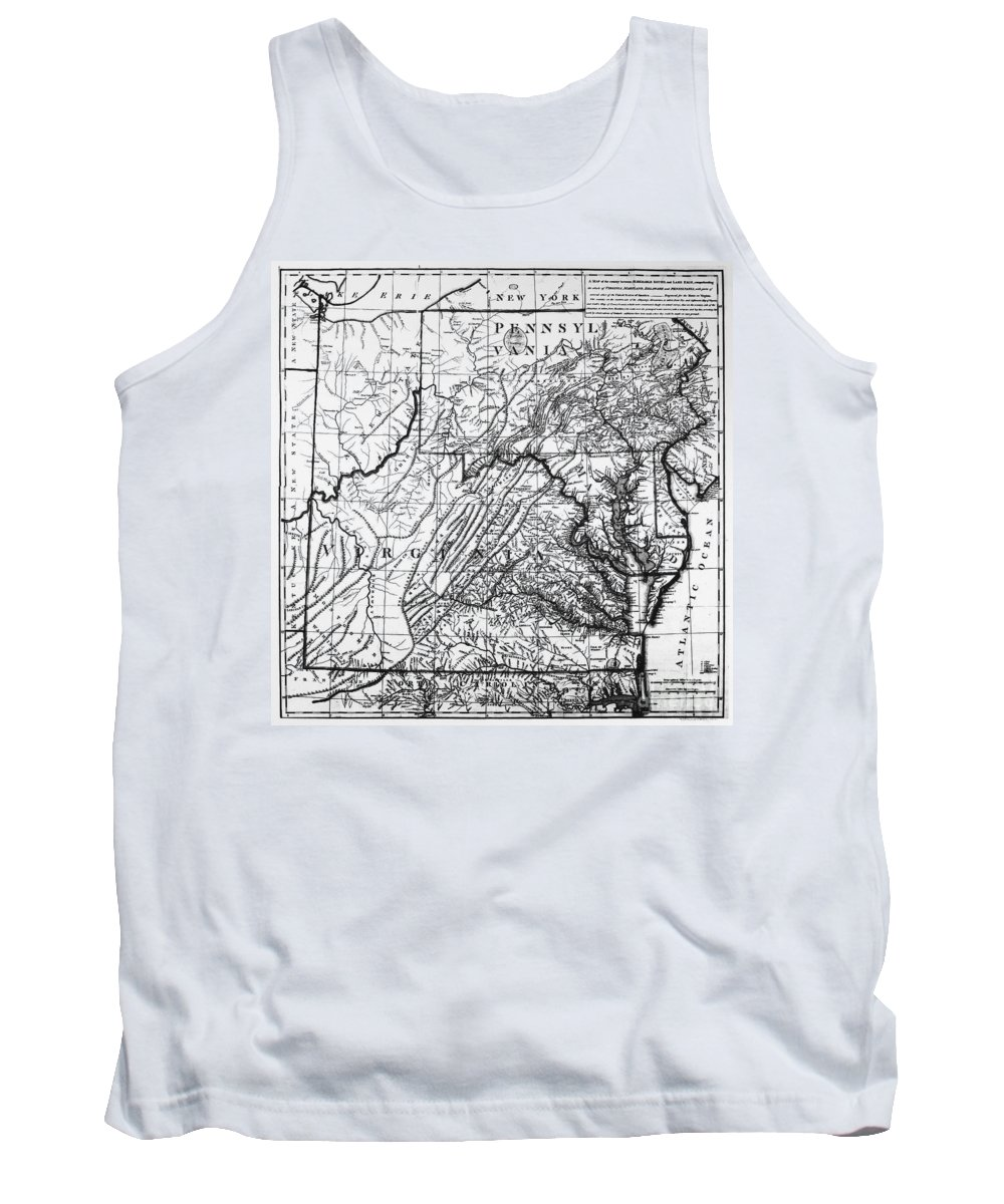 1784 Tank Top featuring the photograph Virginia: Map, C1784 by Granger