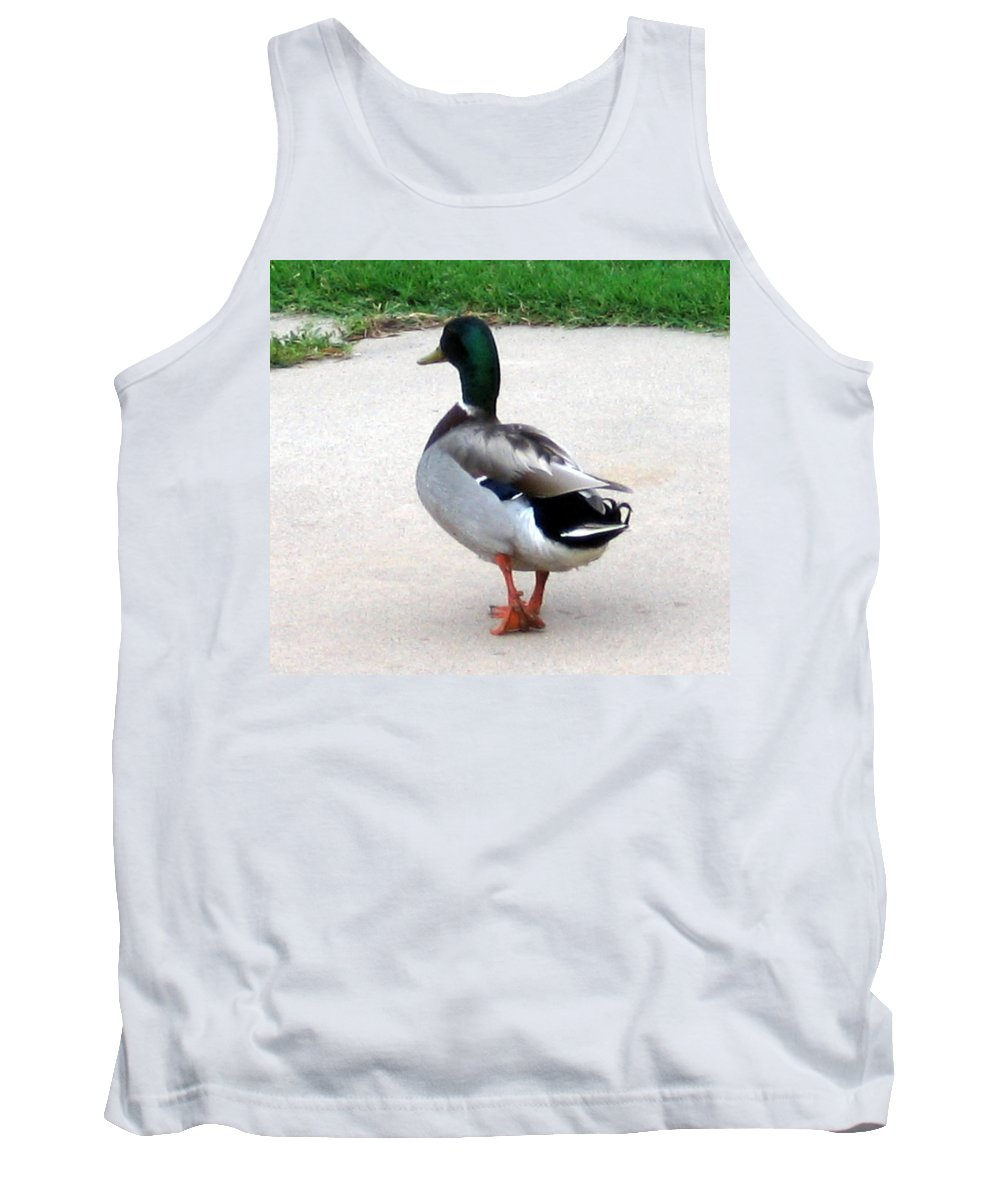 Duck Tank Top featuring the photograph Walking Duck by Amy Hosp