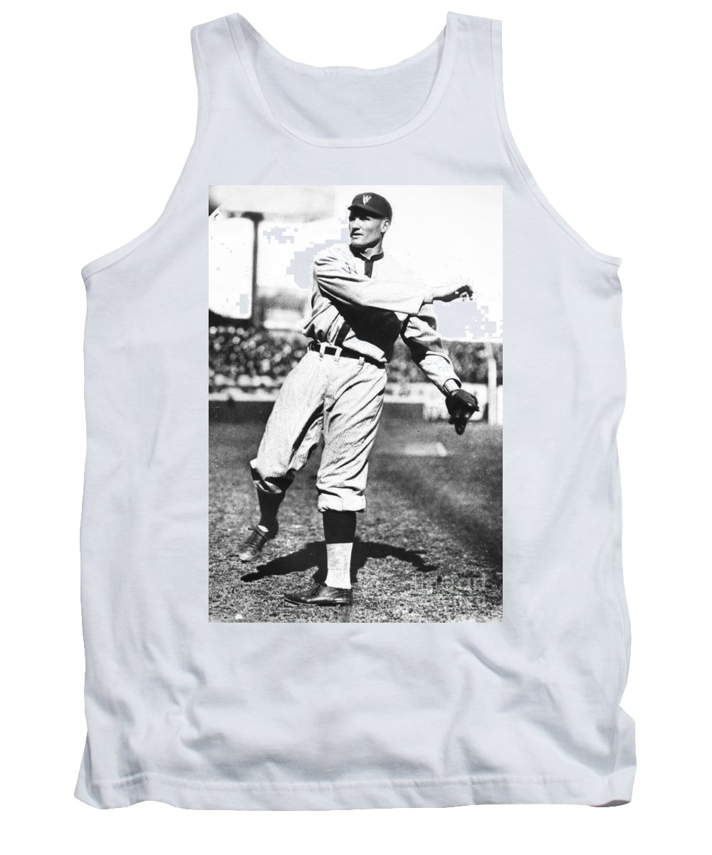 1925 Tank Top featuring the photograph Walter Johnson (1887-1946) by Granger