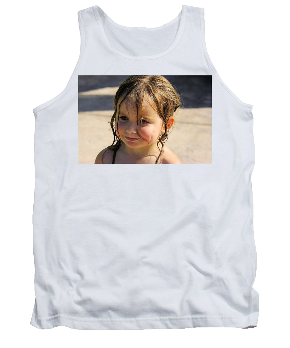 Holly Tank Top featuring the photograph Wet Holly by John Greaves